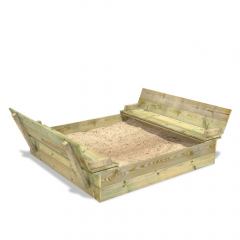 SandSeat XL Sandkasten mit Klappdeckel